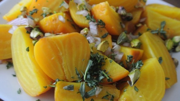 Marinated Golden Beets