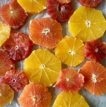 caramelized citrus slices