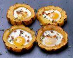 Roasted Squash w/egg in hole