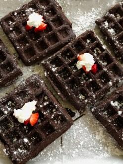GF Chocolate Waffles
