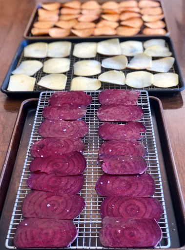 Trays of Veggie Chips