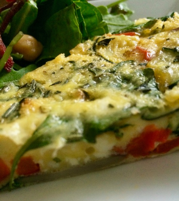 Slice of Veggie Frittata
