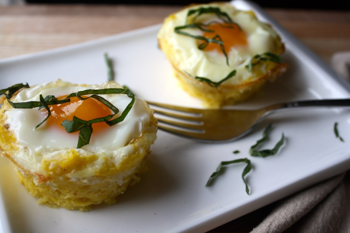 Spaghetti Squash Egg-in-a-Basket | Zestful Kitchen