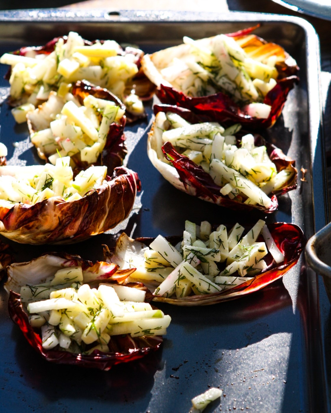 Casual Cocktail Party - Radicchio Cups | Zestful Kitchen