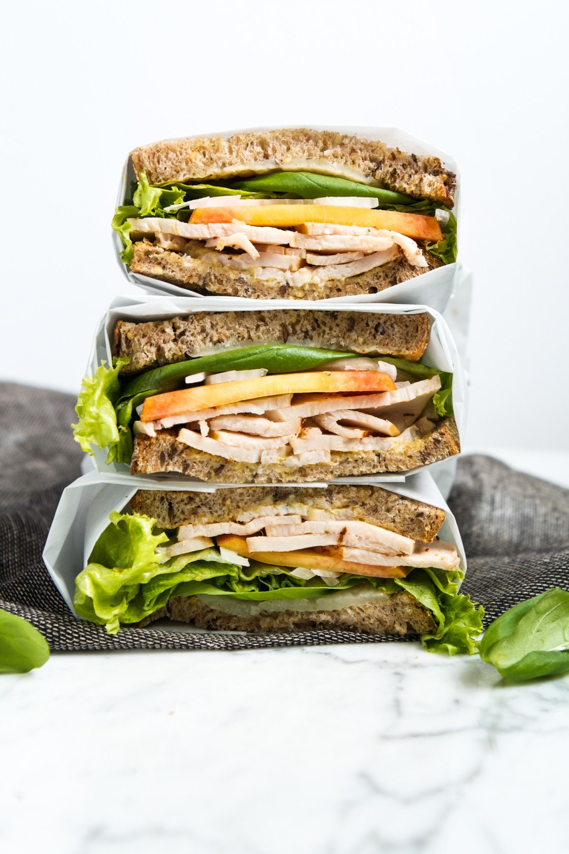 Turkey, Peach & Basil Sandwich | Zestful Kitchen