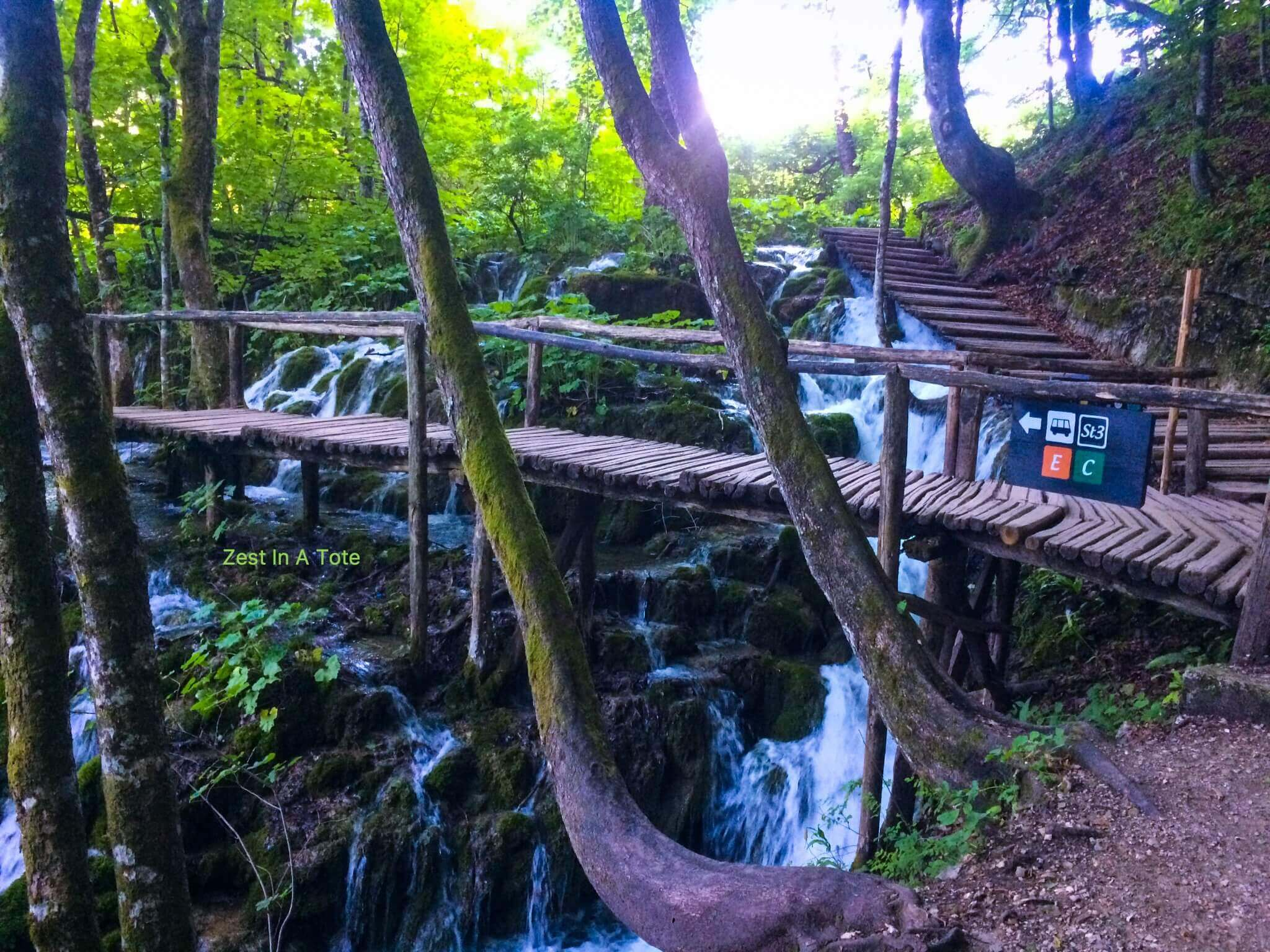 Plitvice Lakes is easy to explore with well marked paths