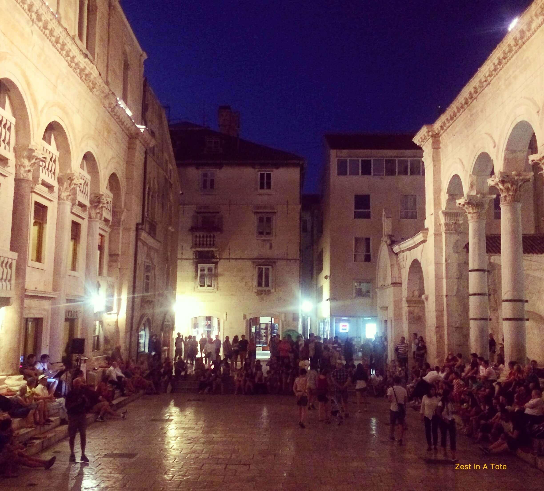 Peristil in the old town of Split