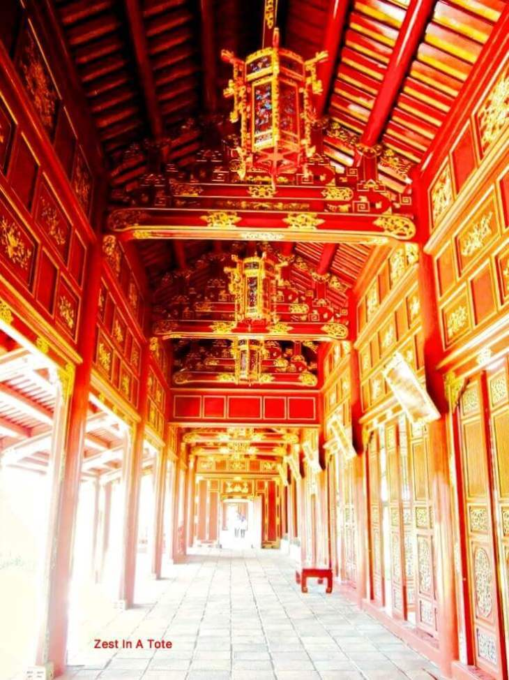 The red doors at Hue citadel