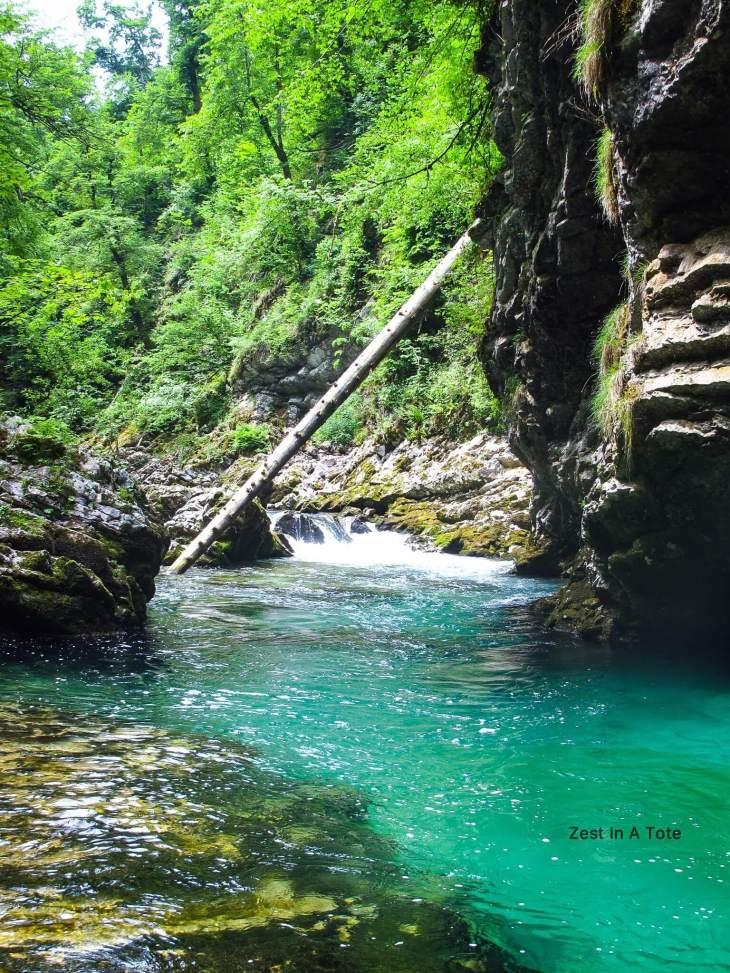 Vintgar Gorge, the stunning green water