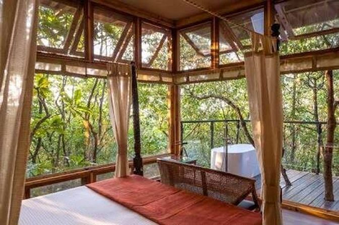 Interiors of the Jungle Machan