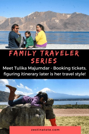 In this 3rd interview of the 'Family Traveler' series, Tulika introduces us to her family adventures with her husband, Anshuman and 2 kids. Their travel style - follow the wind, or snowstorms, or cherry blossoms, or just the road! #familytravel #travelwithkids #travelinspiration