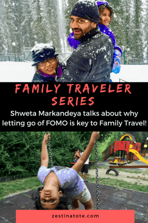 This is the 4th interview of the Family Traveler series. Meet Do-It-Yourself Traveler Shweta who shares some fabulous family travel tips and tales. #familytravel #travelwithkids #familytraveltips