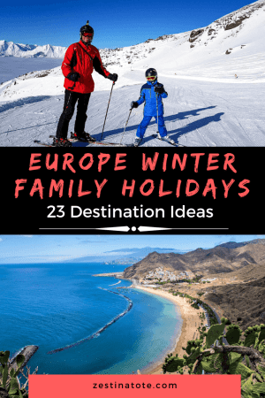 Thinking of a winter destination in Europe for a family vacation? Read for great ideas, from winter wonderland in Nordic countries, skiing or winter sports destinations, winter city breaks in Europe, winter sun destinations in Europe or some budget ideas in Eastern Europe. #europe #europefamilyholidays #europewinterdestinations