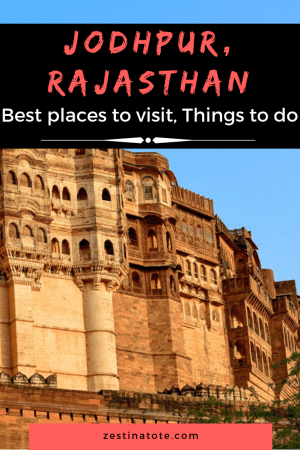 One of my favourite cities - Jodhpur with the majestic Mehrangarh Fort, other examples of architecture, spicy local food and friendly vibes - is a must-do on any itinerary to Rajasthan. Read for the best places in Jodhpur and what to do in Jodhpur. #india #rajasthan #jodhpur #whattodoinjodhpur #placestovisitinjodhpur #jodhpursightseeing
