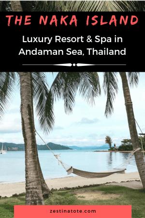 Thinking of an island getaway in Thailand? The Naka Island Resort, just off the Phuket coast, makes for a great luxury stay. #thailand #phuket #beachresort #luxurystay #oceanvilla