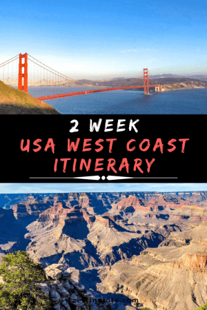 2 weeks USA west coast itinerary