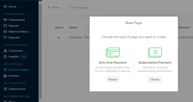 Paystack Payment Pages