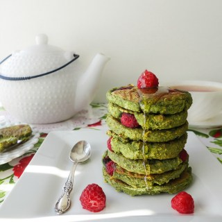 Spinach Raspberry Pancakes (Dairy-Free, Egg-Free, AIP)