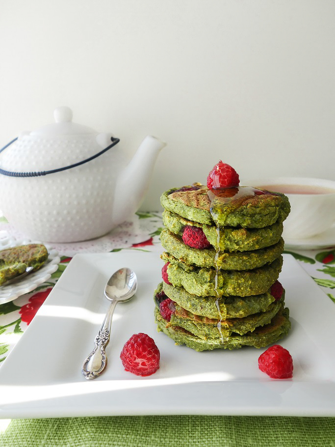 Spinach Raspberry Pancakes (Dairy-Free, Egg-Free, AIP) - Zesty Paleo