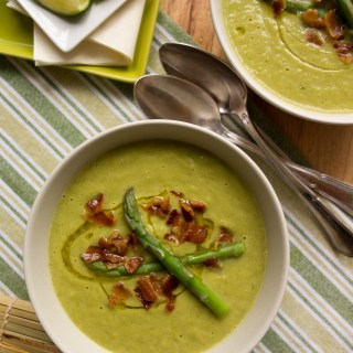 "Autoimmune ""Split-Pea"" Soup with Asparagus, Avocado and Bacon (Legume-Free, AIP)"