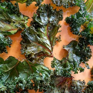 Kale Chips with Balsamic Vinegar and Salt (Vegan, AIP)