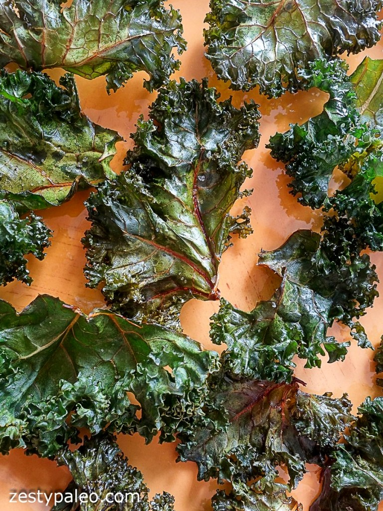 Kale Chips with Balsamic Vinegar and Salt (Vegan, AIP) - Zesty Paleo