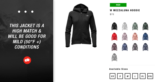 artificial intelligence personal shopper north face