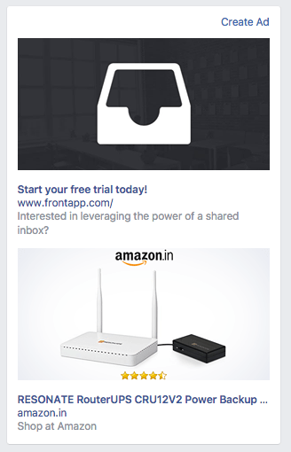 Amazon's retargeted ads