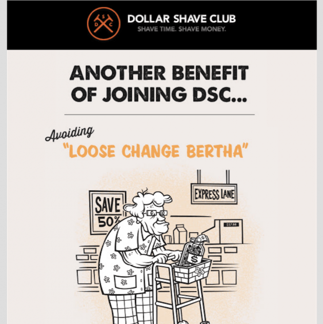 dollar shave club funny email