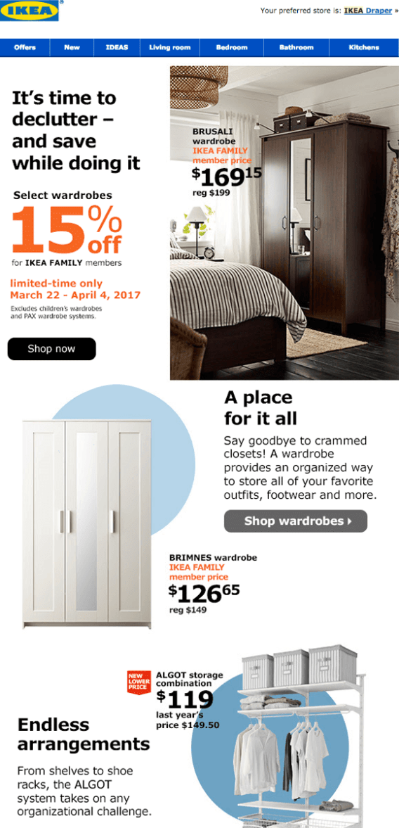 ikea promotional emails