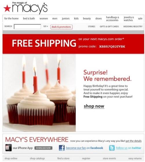 macys birthday email