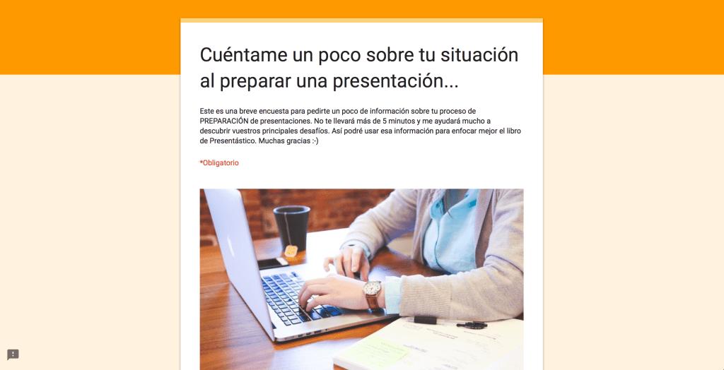Mini encuestas sobre cómo preparar presentaciones