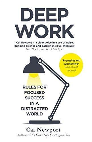 """Portada del libro """"Deep Work"""" de Cal Newport"""