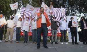 Carlos Atilano, candidato a gobernador de BC por el PBC / Foto: Ramón Blanco
