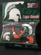Michigan State NCAA Official Logo Bandz 20-Pack Forever Collectibles NIB