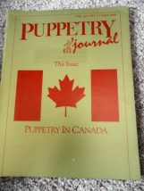 Puppetry Journal Vol.40 No.1 Fall 1988 This Issue Puppetry In Canada Gold Cover