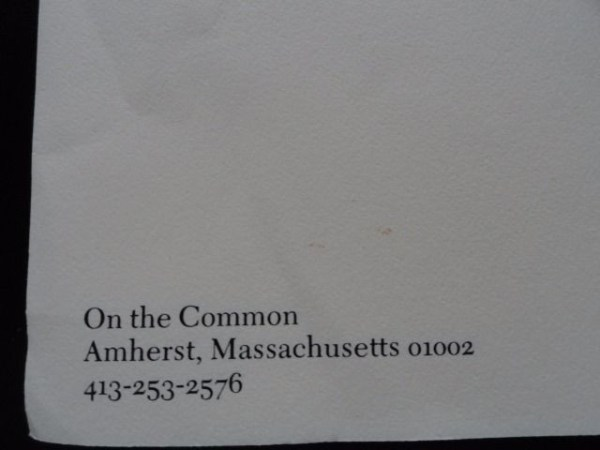 1980 Amherst College THE LORD JEFFERY INN Stationery Envelops On The Common New