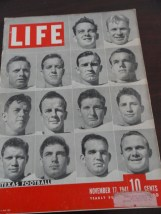Vintage Life Magazine November 17, 1941 Texas Football On Cover Excellent Cond