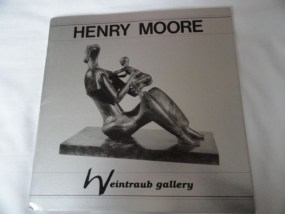 Art Book Catalog Brochure Henry Moore Weintraub Gallery 29 Pages Spain