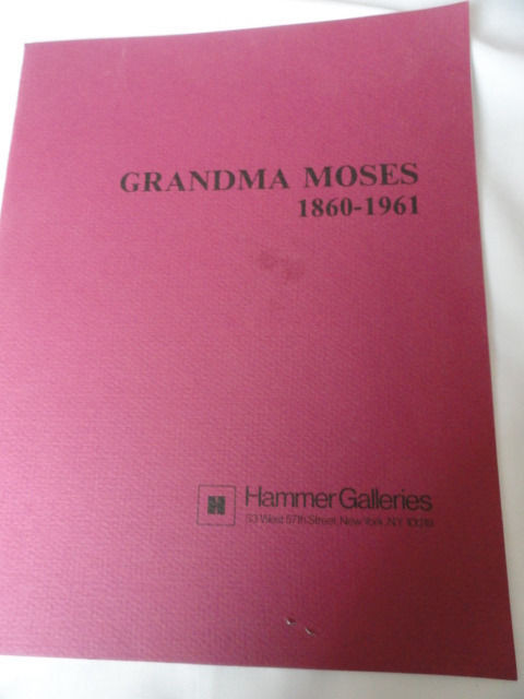 Art Book Catalog Brochure Grandma Moses Hammer Galleries 12 Pages 1973