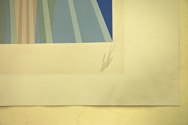 """Erte """"The Curtain"""" Serigraph 161/300 Signed in Pencil With COA Circle Galleries"""