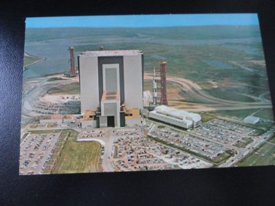 Vtg  60's NASA Postcard #94075 John F Kennedy Space Center NASA APOLLO/SATURN V