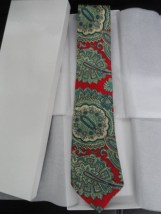 Vintage Men's Tie HAND FASHIONED Briar Traditional Tiemek All Silk Woven Italy
