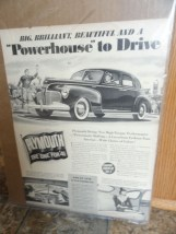 Vintage 1941 Powerhouse To Drive Plymouth Chrysler Corporation Advertisement