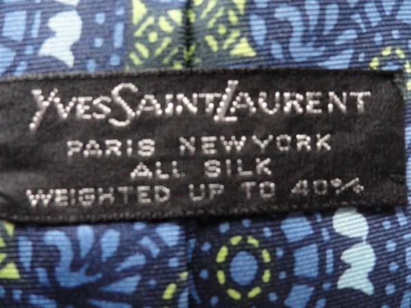 Vintage Men's Yves Saint Laurent Abstract Tie Paris New York All Silk