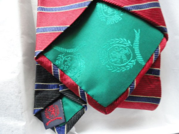 Vintage Men's Tommy Hilfiger Tie 2 Color 100% Silk Imported Fabric Made In USA