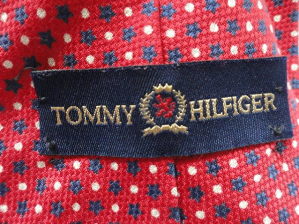 Vintage Men's TOMMY HILFIGER Tie 100% Imported Silk Printed In Italy Made In USA