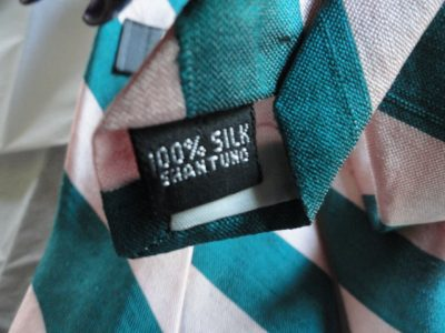 Vintage Lord & Taylor The Men's Store Striped Tie 100% Silk Shantung Made in USA
