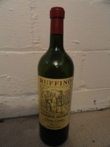 "RUFFINO RISEVA CHIANTI Dummy Display Wine Empty Glass Bottle 18"" Corked"