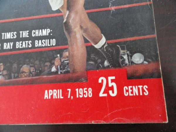 Vintage Life Magazine April 7, 1958 Sugar Ray Beats Basilio On Cover